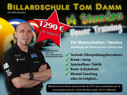 14 Stunden Power-Training Poolbillard - All Inclusive*